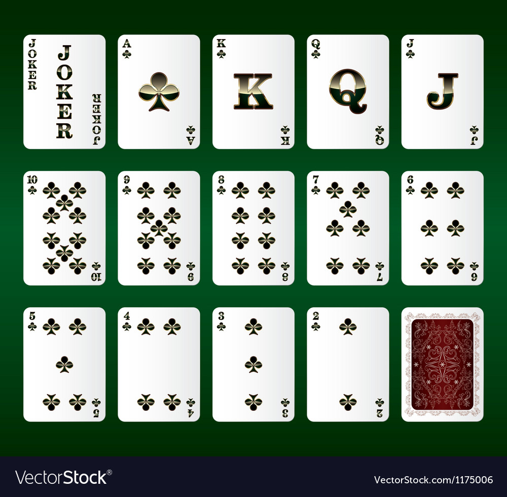Playing cards set clubs vector | Price: 1 Credit (USD $1)