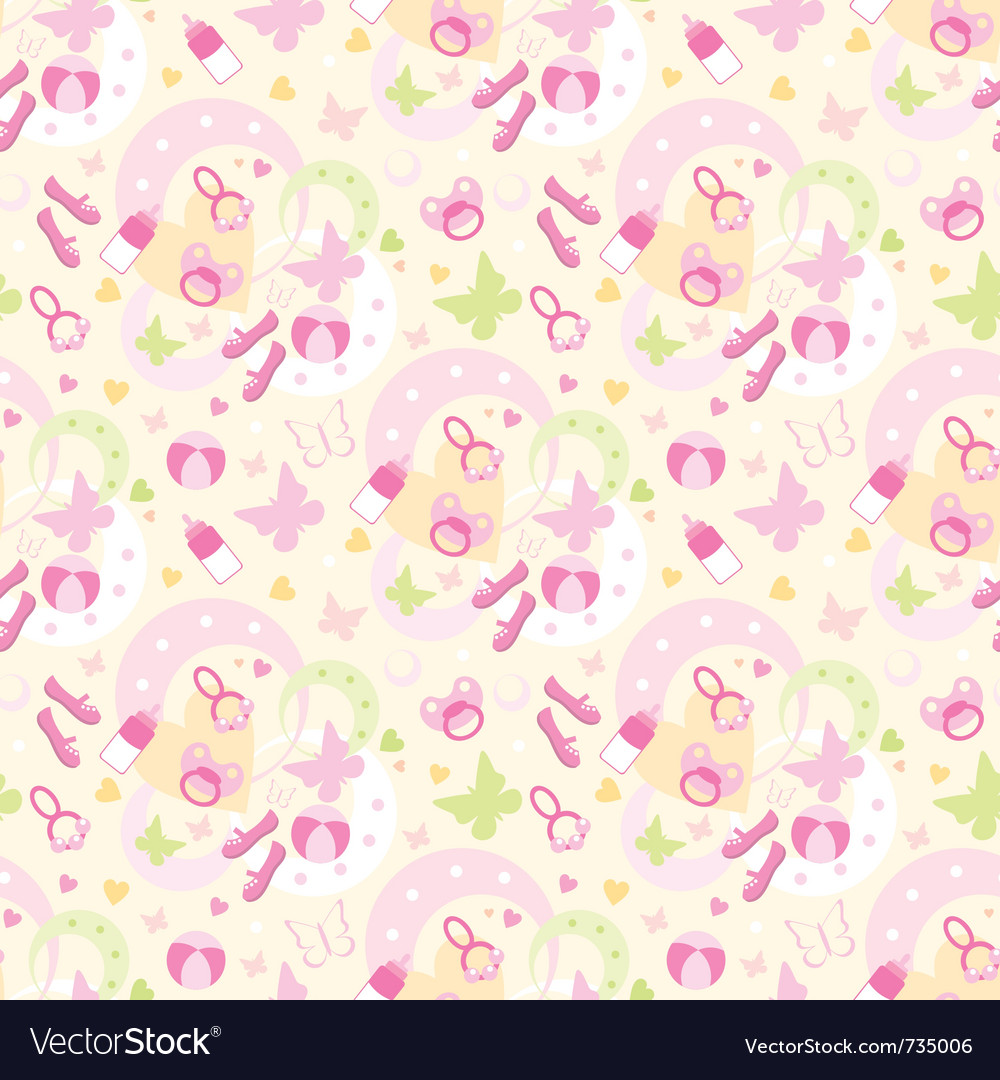 Seamless children things pattern vector | Price: 1 Credit (USD $1)
