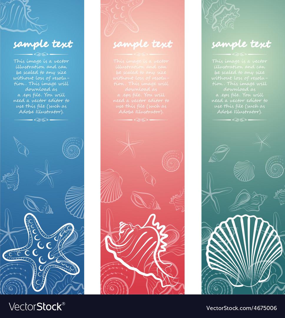 Seashell card6 vector | Price: 1 Credit (USD $1)