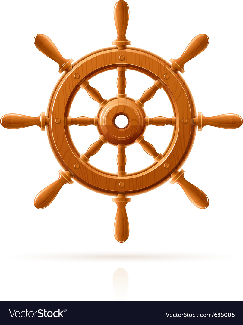 Ship wheel marine wooden vector | Price: 1 Credit (USD $1)