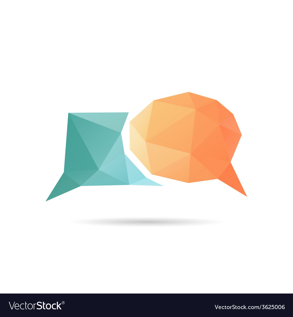 Speech bubble icon abstract vector | Price: 1 Credit (USD $1)