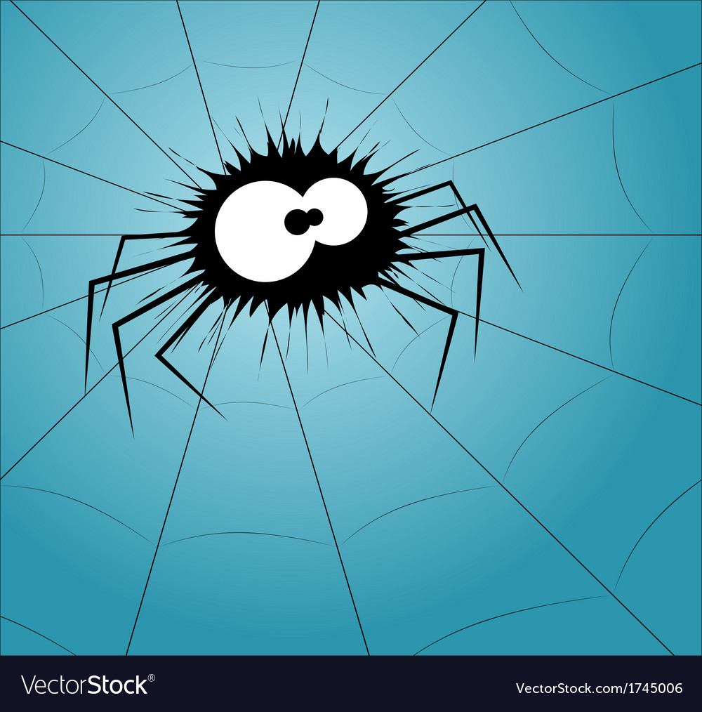 Spider on the web vector | Price: 1 Credit (USD $1)