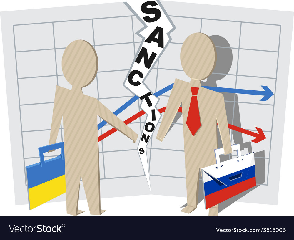 Ukraine sanctions against russia vector | Price: 1 Credit (USD $1)