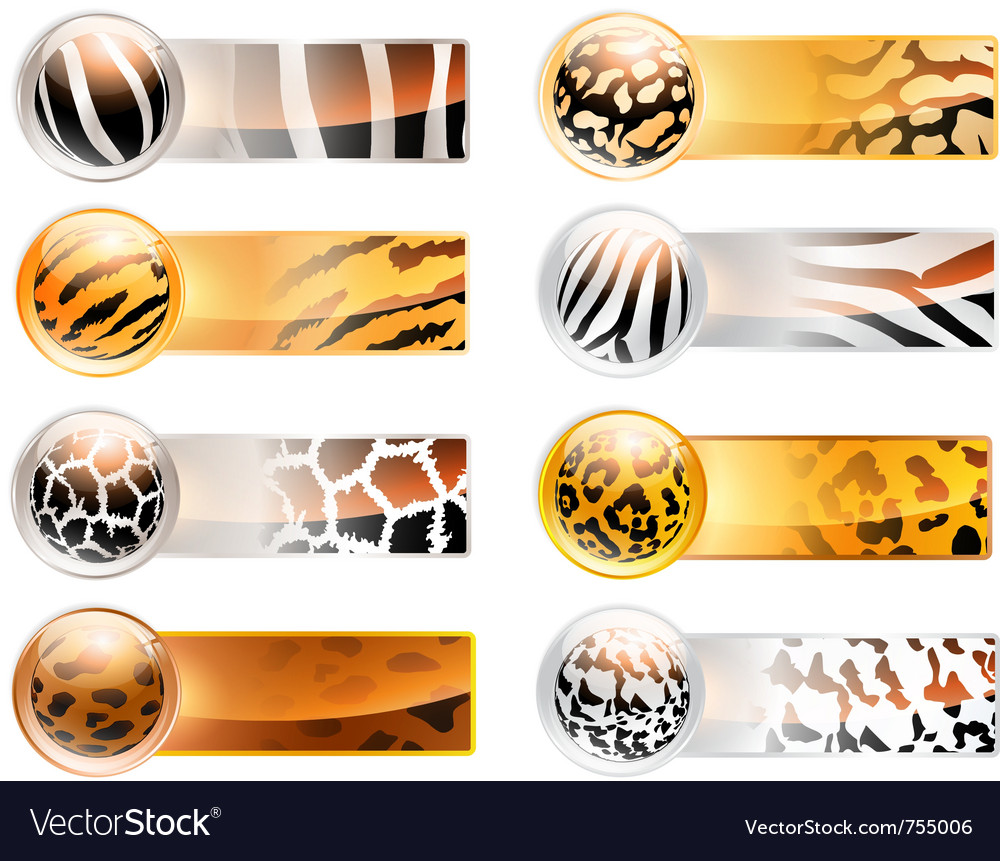 Variety of 8 horizontal web banner vector | Price: 3 Credit (USD $3)