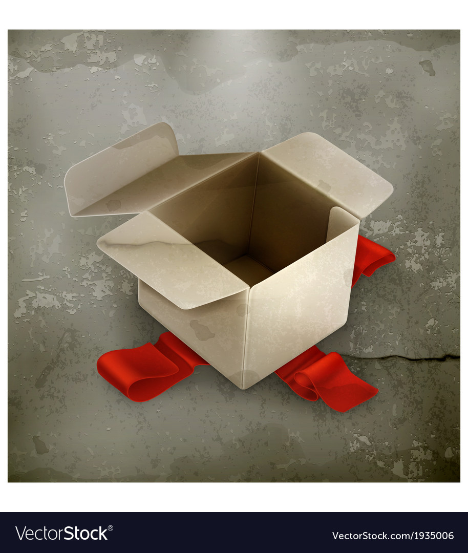White cardboard box old style vector | Price: 1 Credit (USD $1)