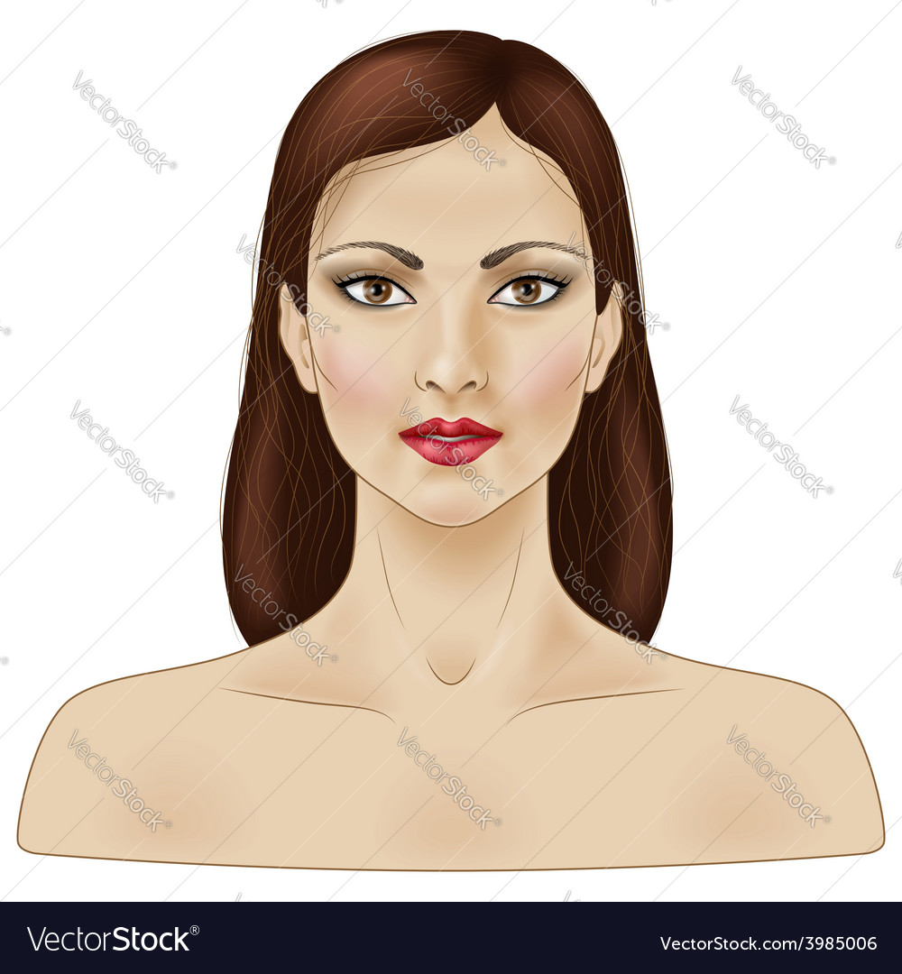 Woman face vector | Price: 1 Credit (USD $1)