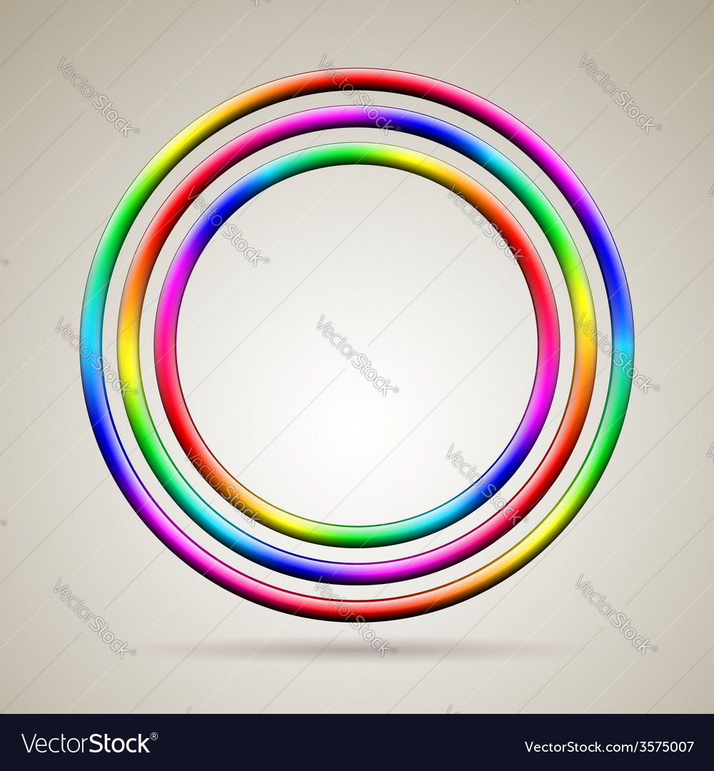 Abstract shiny rainbow colored rings vector | Price: 1 Credit (USD $1)