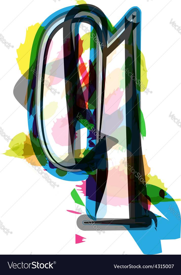 Artistic font - letter q vector | Price: 1 Credit (USD $1)
