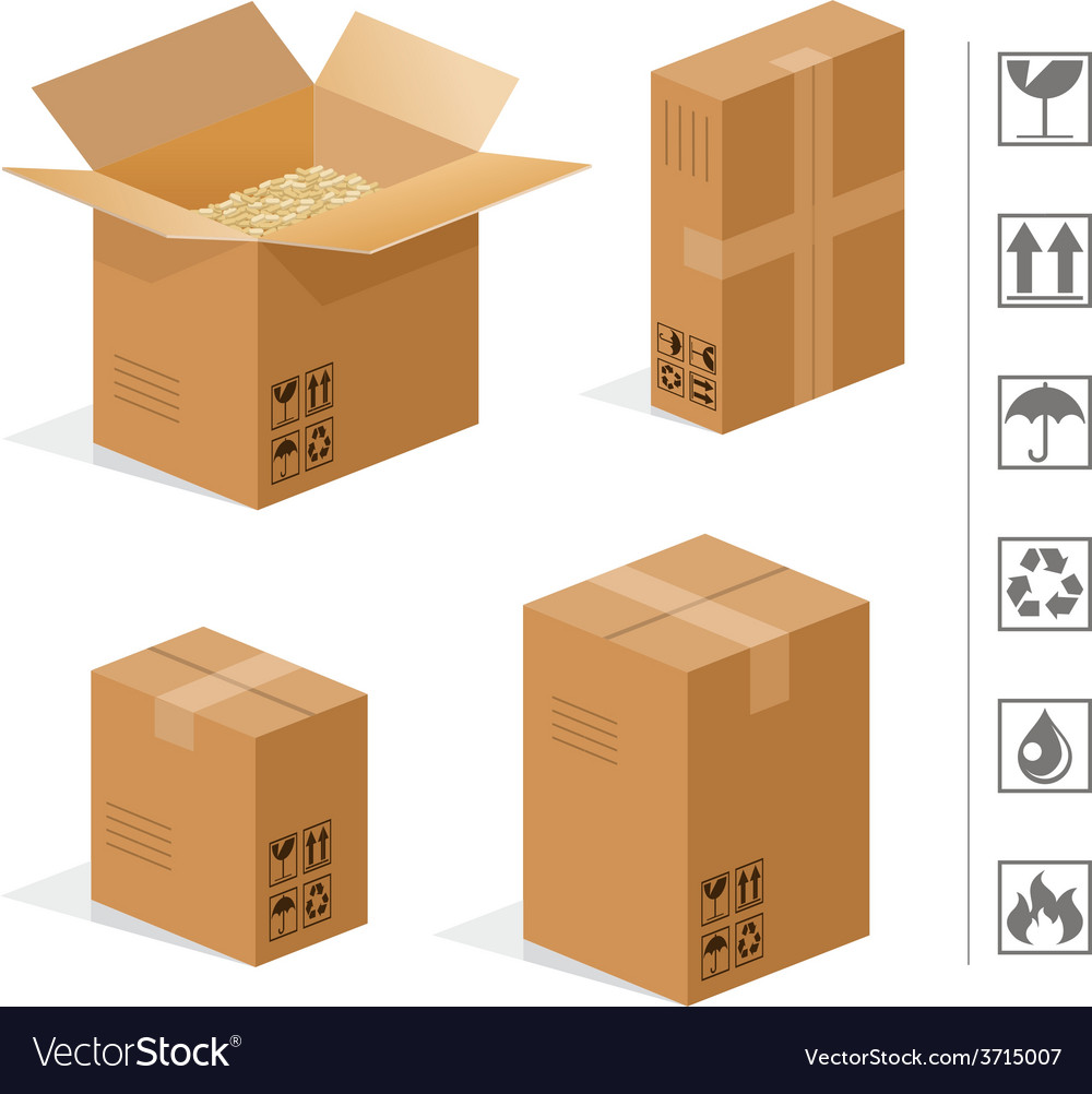 Cardboard boxes vector | Price: 1 Credit (USD $1)