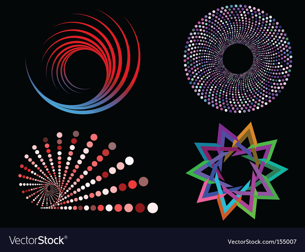 Circular designs vector | Price: 1 Credit (USD $1)