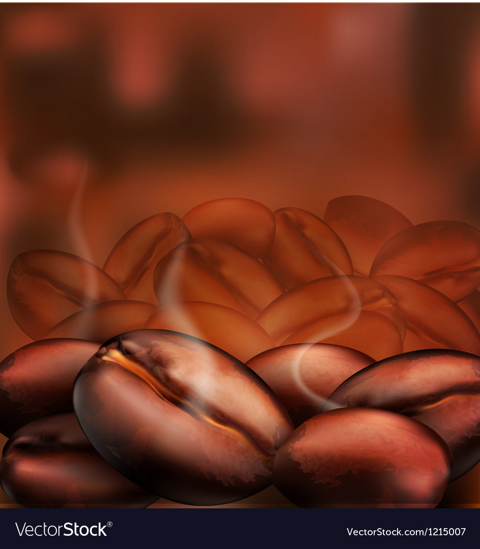 Coffee beans close-up vector | Price: 1 Credit (USD $1)