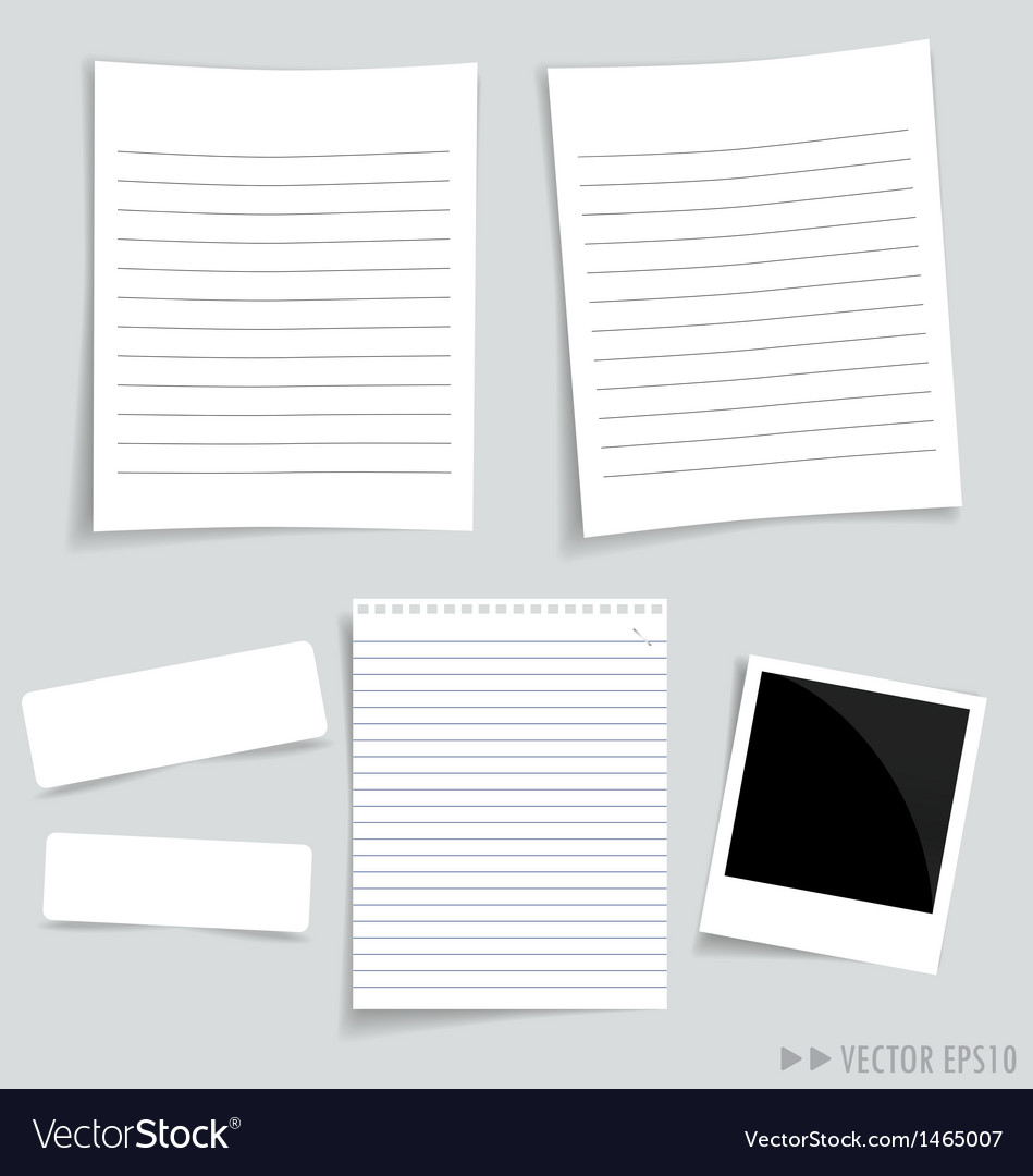 Collection white papers vector | Price: 1 Credit (USD $1)
