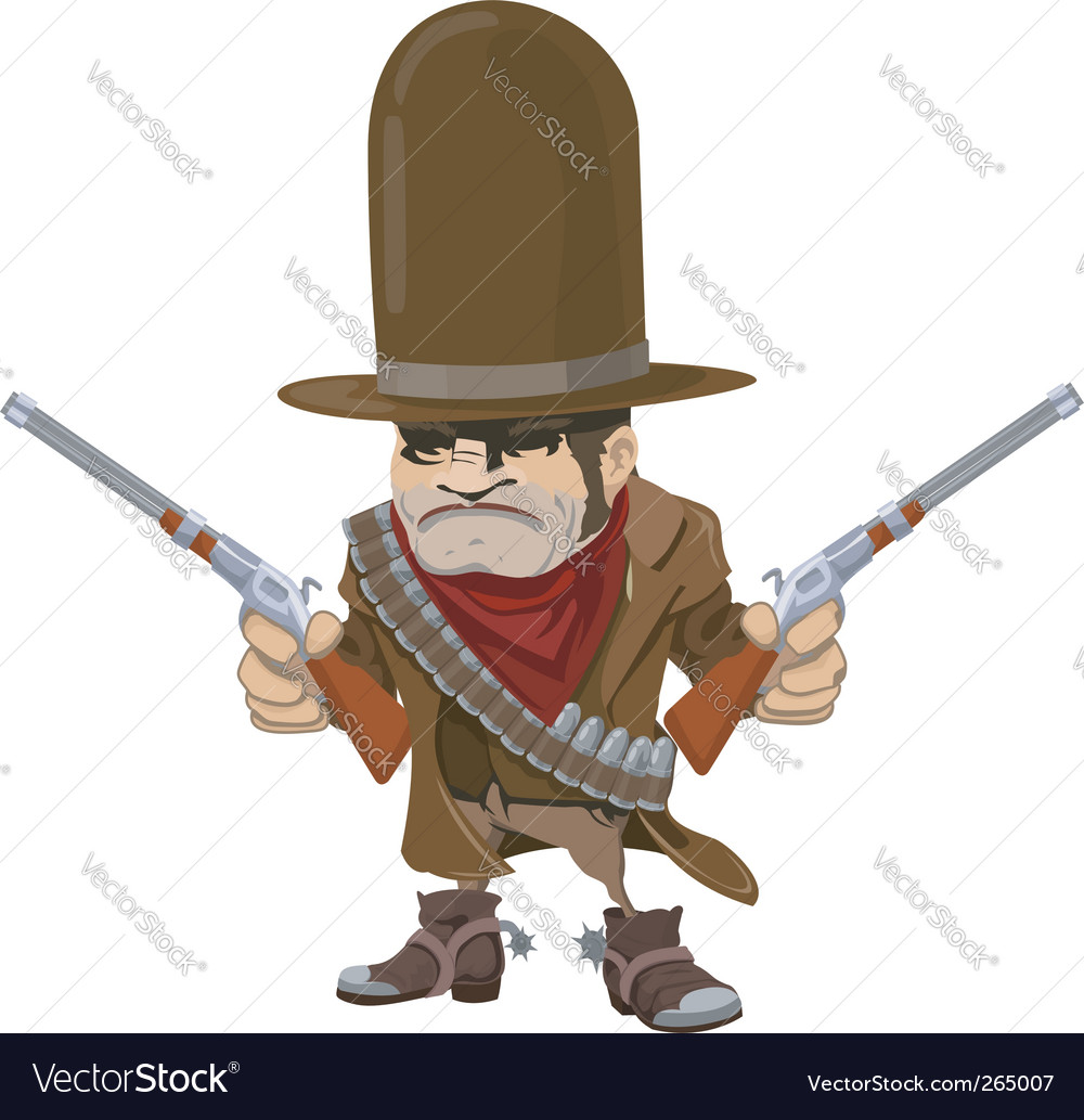 Cowboy gunman vector | Price: 3 Credit (USD $3)