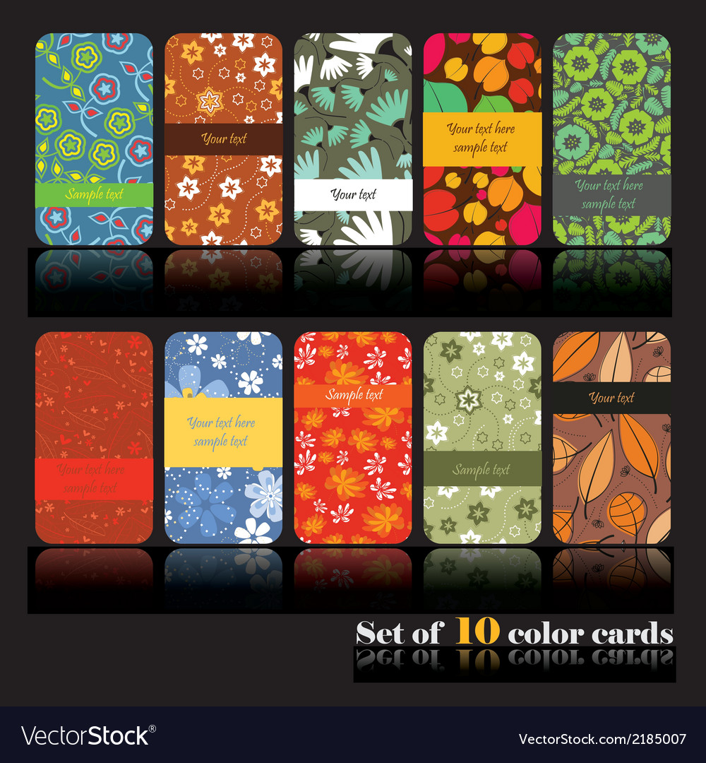 Floral cards vector   Price: 1 Credit (USD $1)