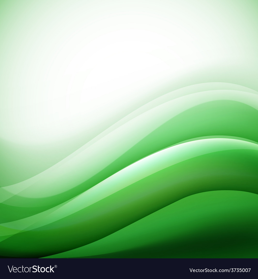 Green waves background folding vector | Price: 1 Credit (USD $1)
