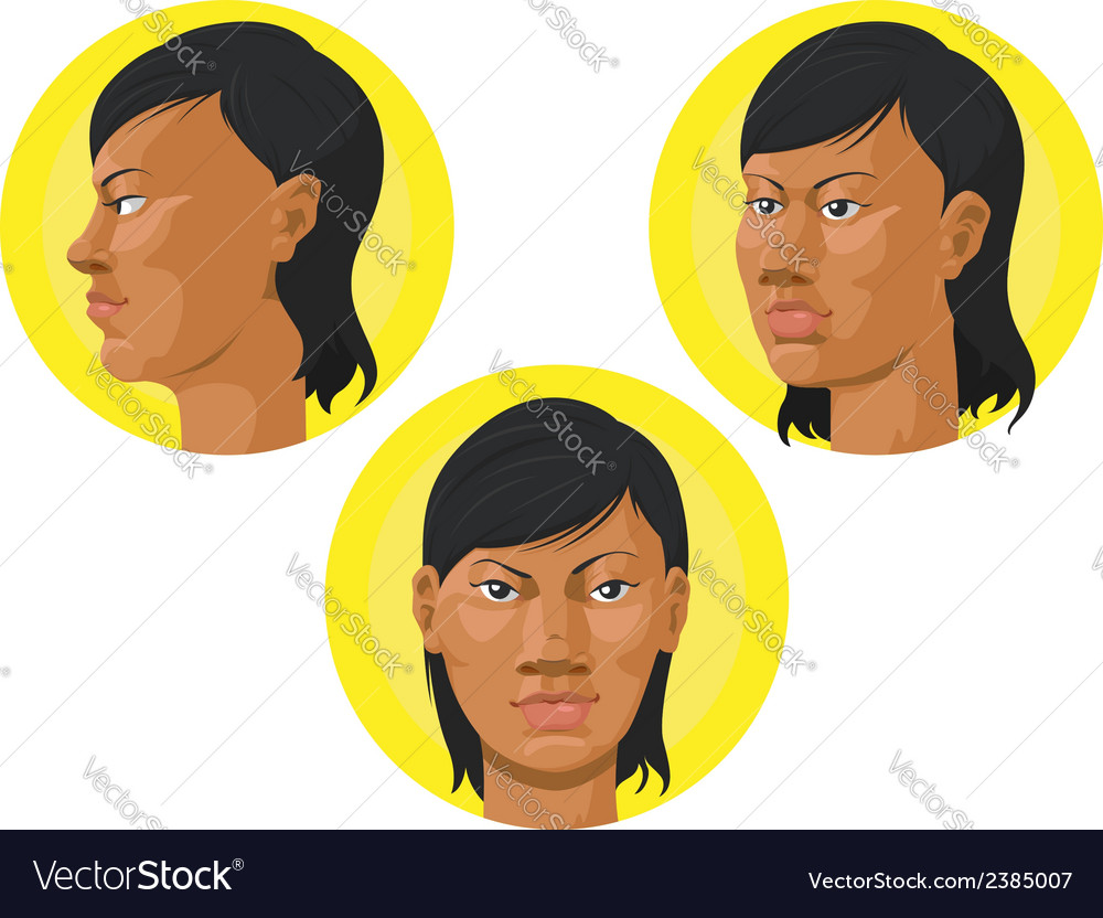 Head african american woman vector | Price: 1 Credit (USD $1)