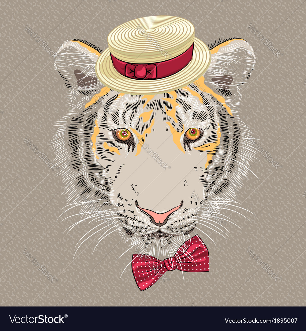 Hipster amur tiger vector | Price: 1 Credit (USD $1)