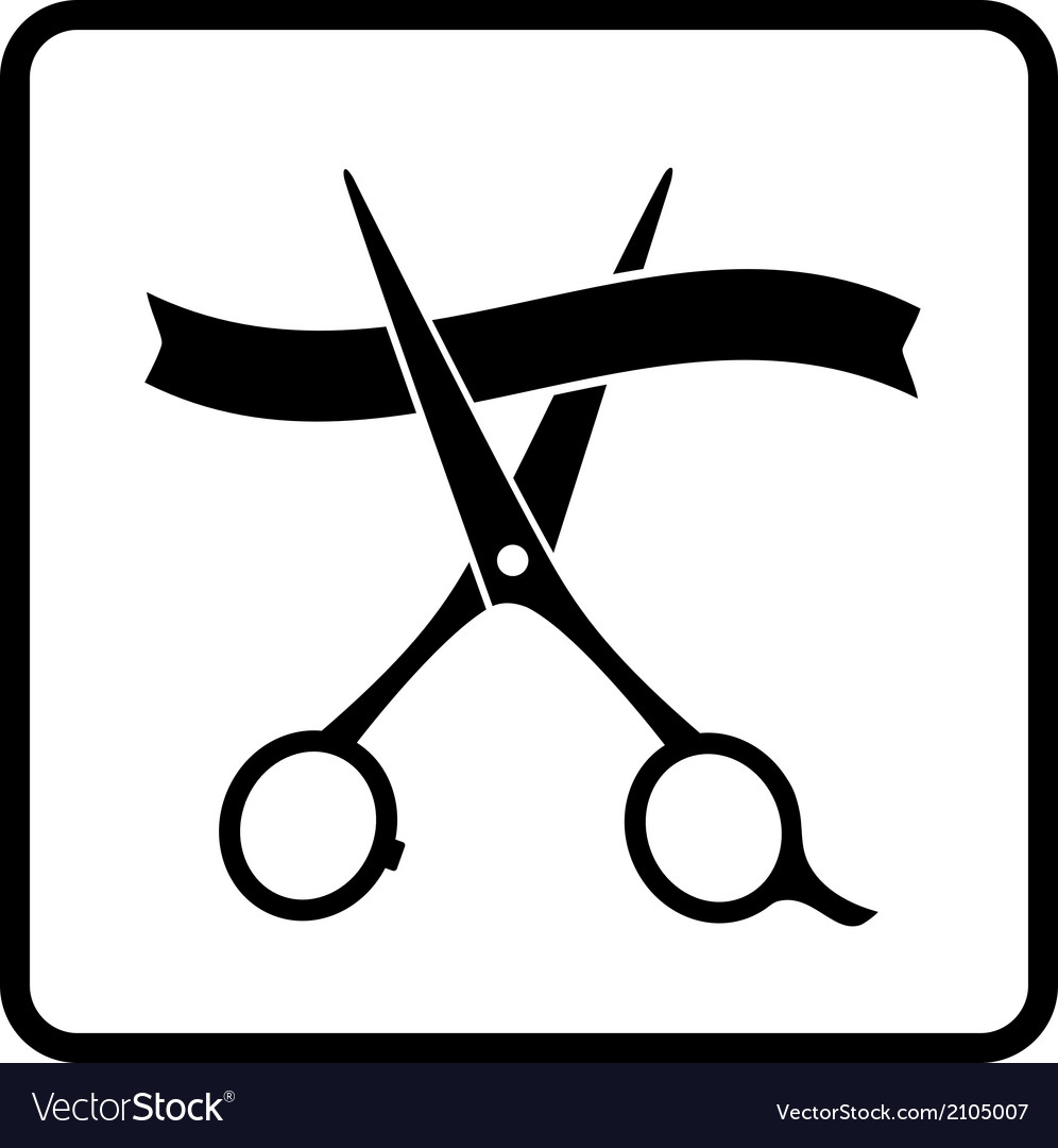 Scissors and ribbon vector | Price: 1 Credit (USD $1)