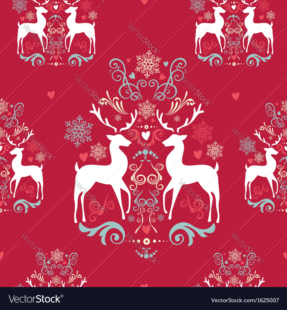 Vintage christmas elements seamless pattern vector | Price: 1 Credit (USD $1)