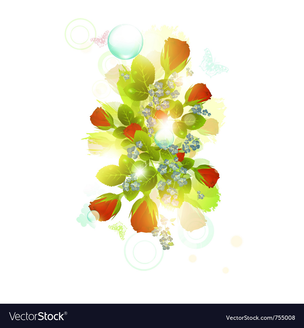 Abstract floral background vector | Price: 3 Credit (USD $3)