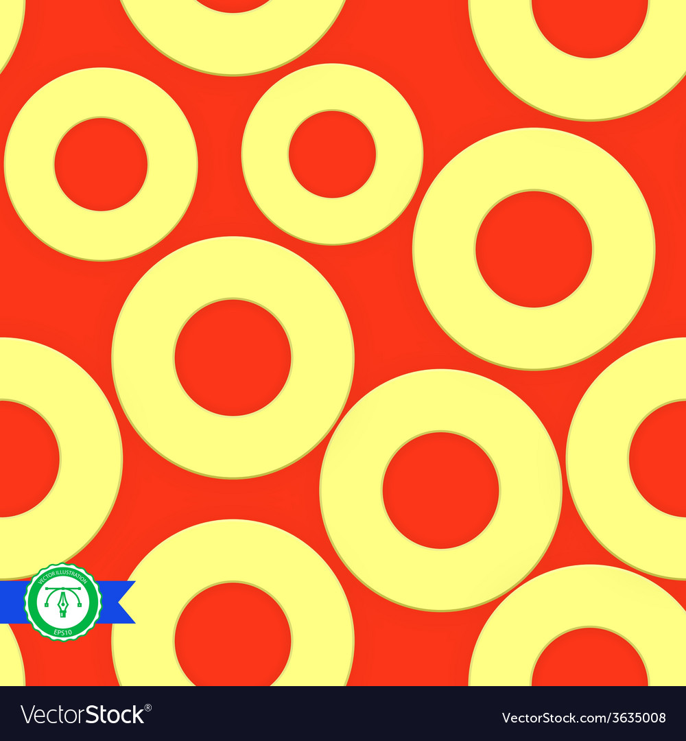 Abstract seamless circles pattern vector   Price: 1 Credit (USD $1)