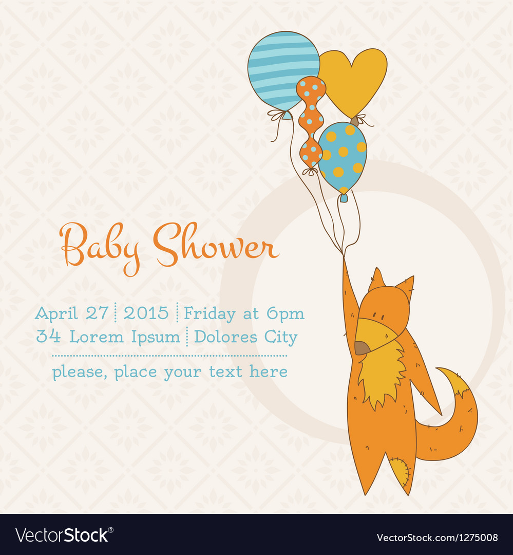 Baby girl shower or arrival card vector | Price: 1 Credit (USD $1)