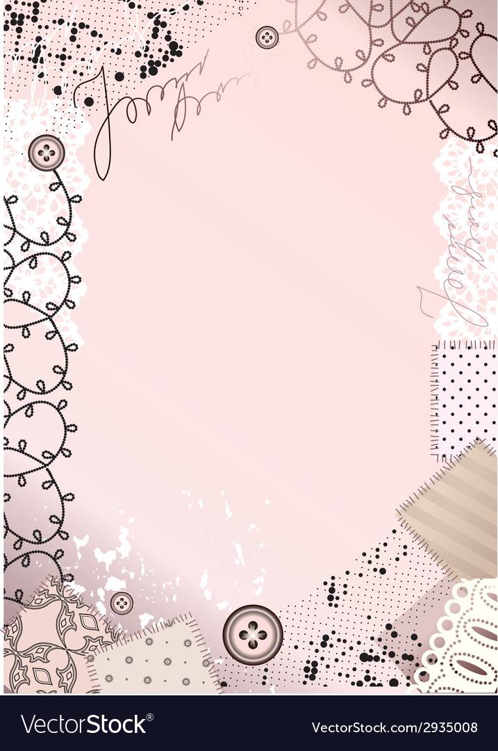 Border with lace vector | Price: 1 Credit (USD $1)