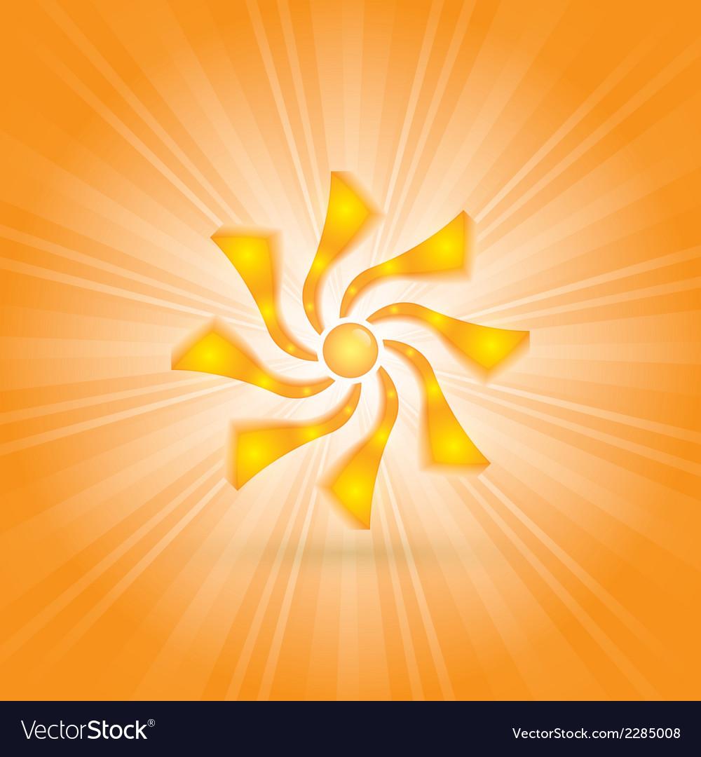 Bright sun vector | Price: 1 Credit (USD $1)