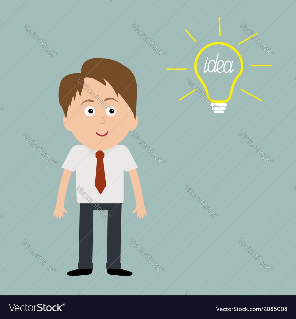 Businessman and bulb idea concept vector | Price: 1 Credit (USD $1)