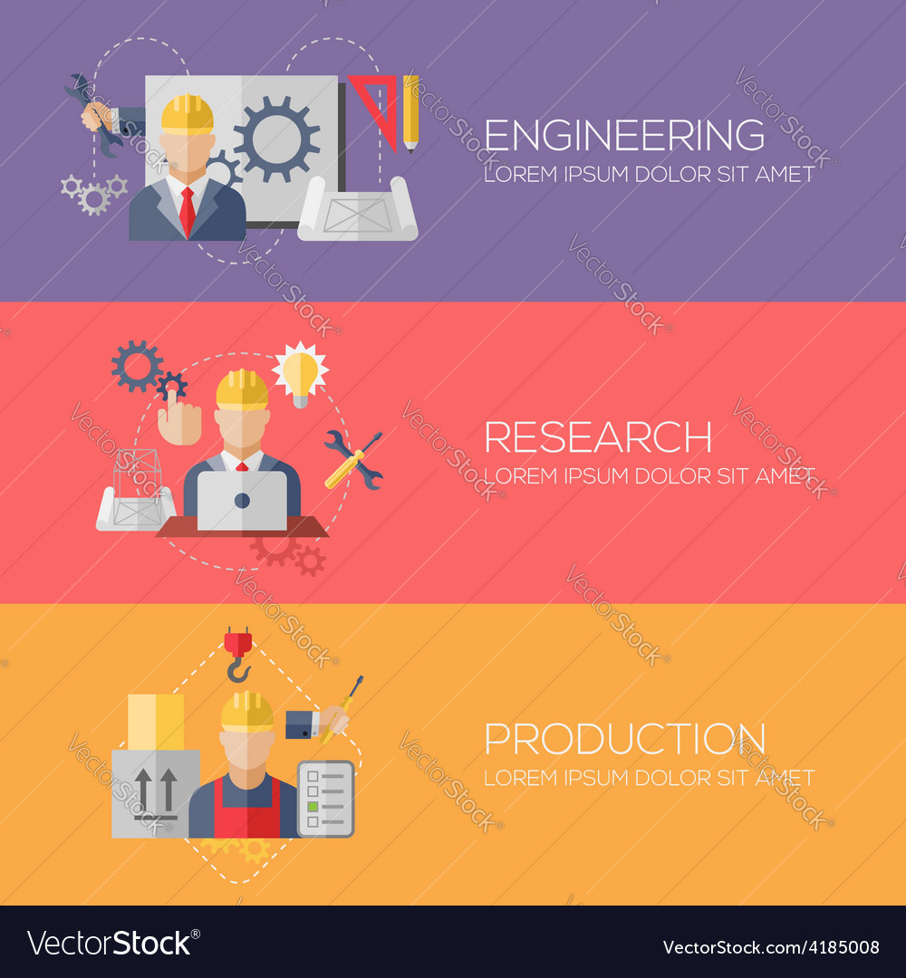 Flat design concepts for engineering research vector | Price: 3 Credit (USD $3)