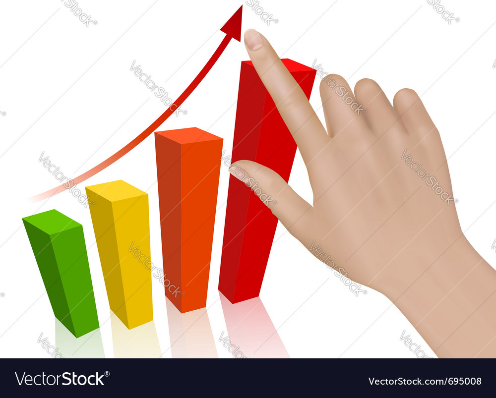 Hand with graph vector   Price: 1 Credit (USD $1)