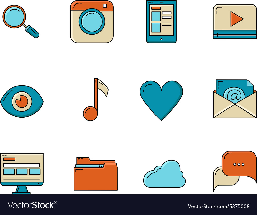 Media and communication icons vector   Price: 1 Credit (USD $1)