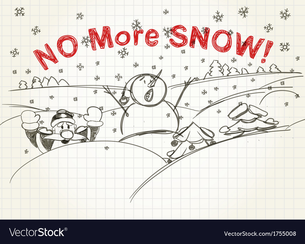 No more snow vector | Price: 1 Credit (USD $1)