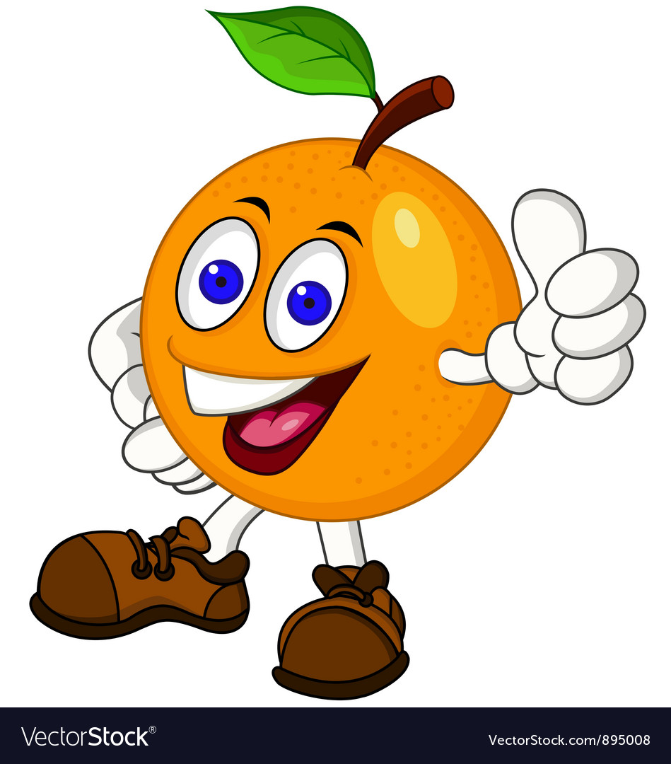 Orange cartoon character vector | Price: 3 Credit (USD $3)