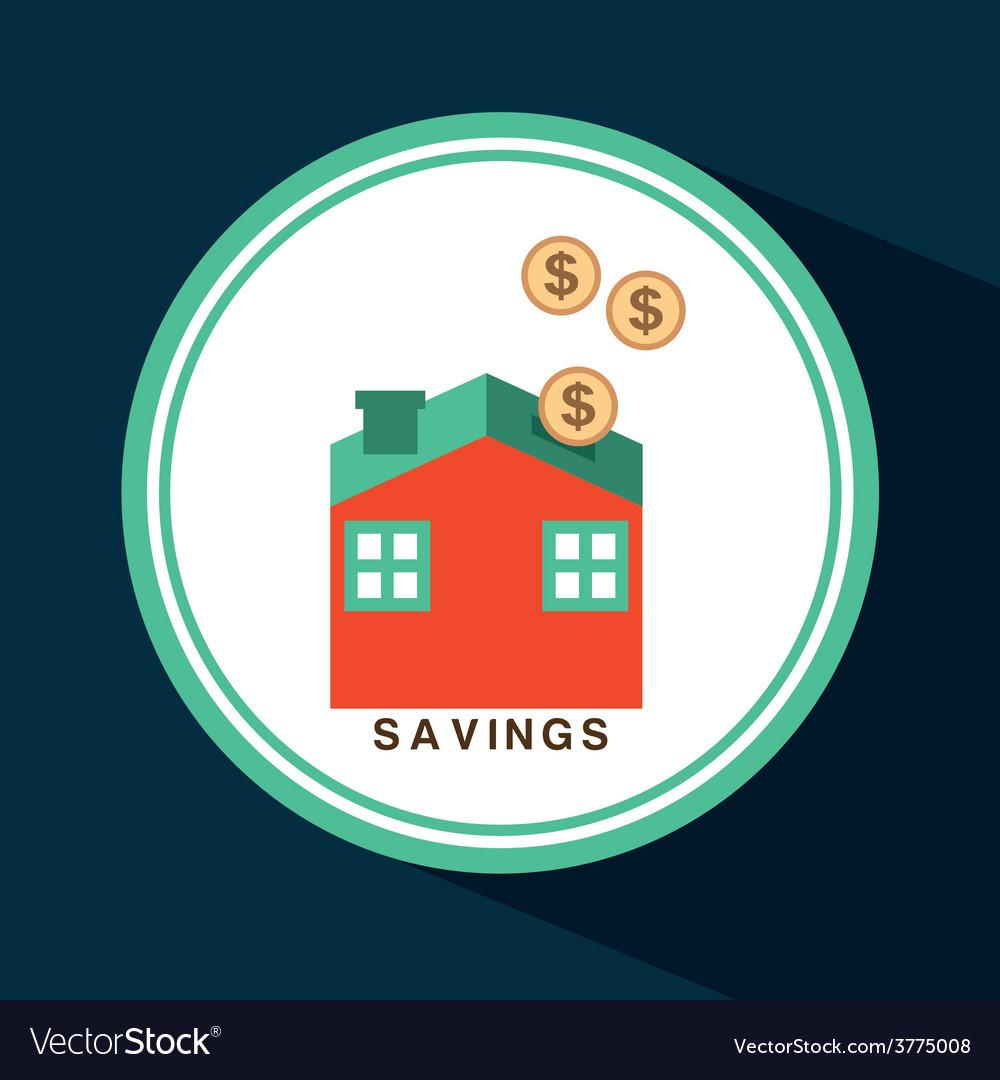 Savings icon vector | Price: 1 Credit (USD $1)