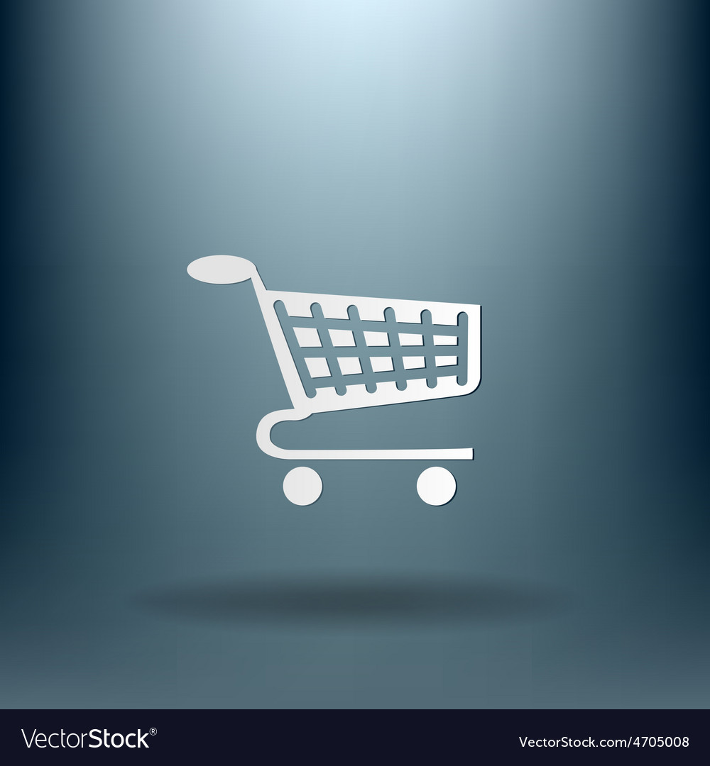 Shopping cart icon vextor vector   Price: 1 Credit (USD $1)
