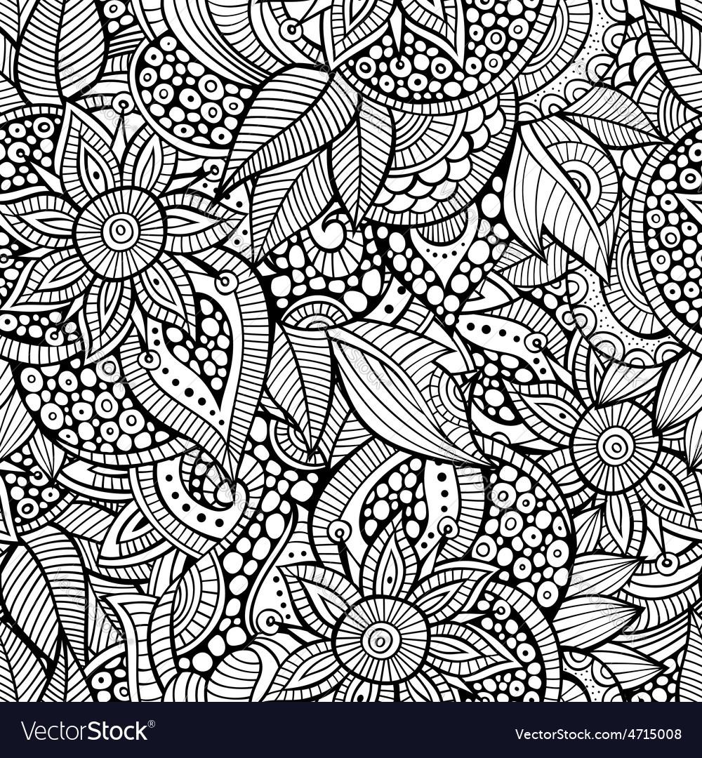 Sketchy doodles decorative floral ornamental vector | Price: 1 Credit (USD $1)
