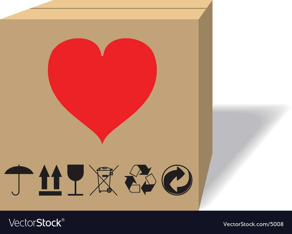 What in a cardboard box vector | Price: 1 Credit (USD $1)