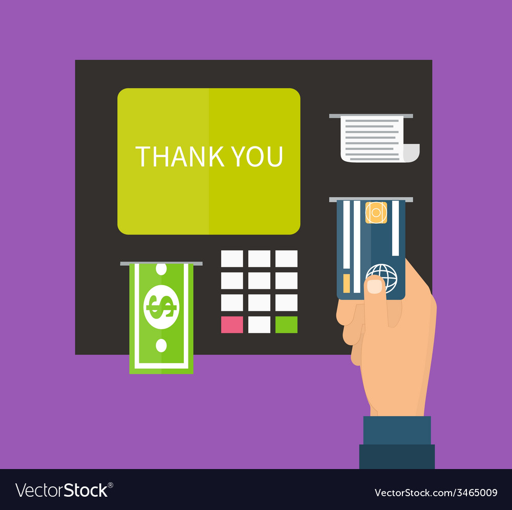 Atm terminal banking vector | Price: 1 Credit (USD $1)