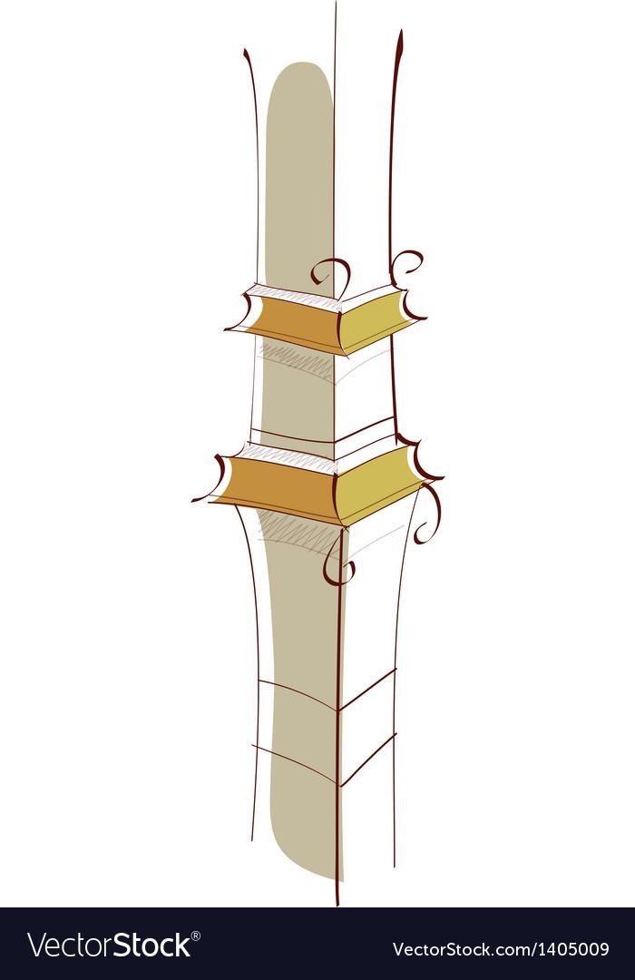 Icon pillar vector | Price: 1 Credit (USD $1)
