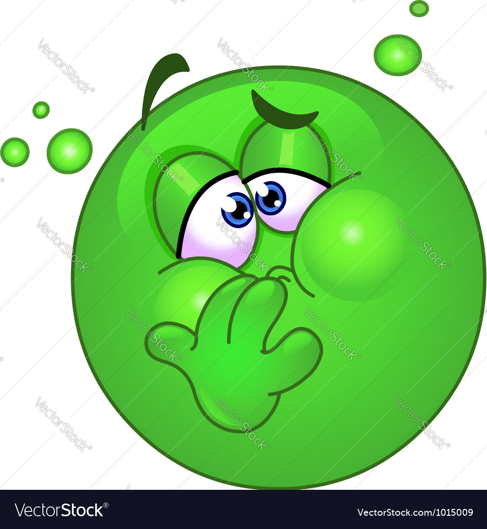 Nauseous emoticon vector | Price: 3 Credit (USD $3)