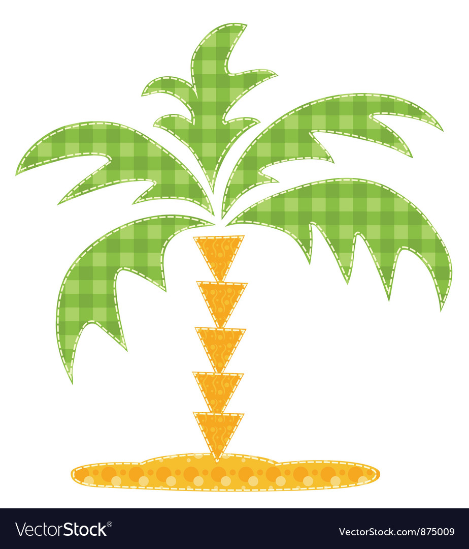 Patchwork palm tree vector | Price: 1 Credit (USD $1)