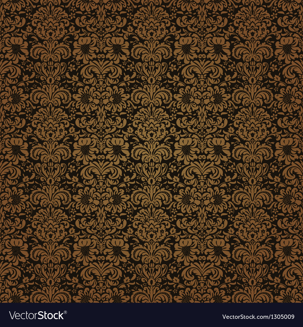 Red brown colors damask style pattern design vector | Price: 1 Credit (USD $1)