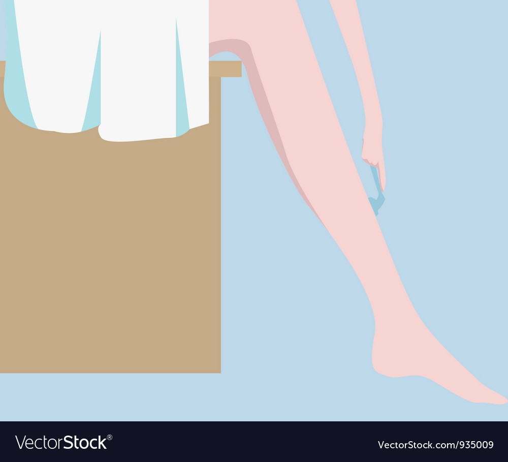 Shaving legs vector | Price: 1 Credit (USD $1)