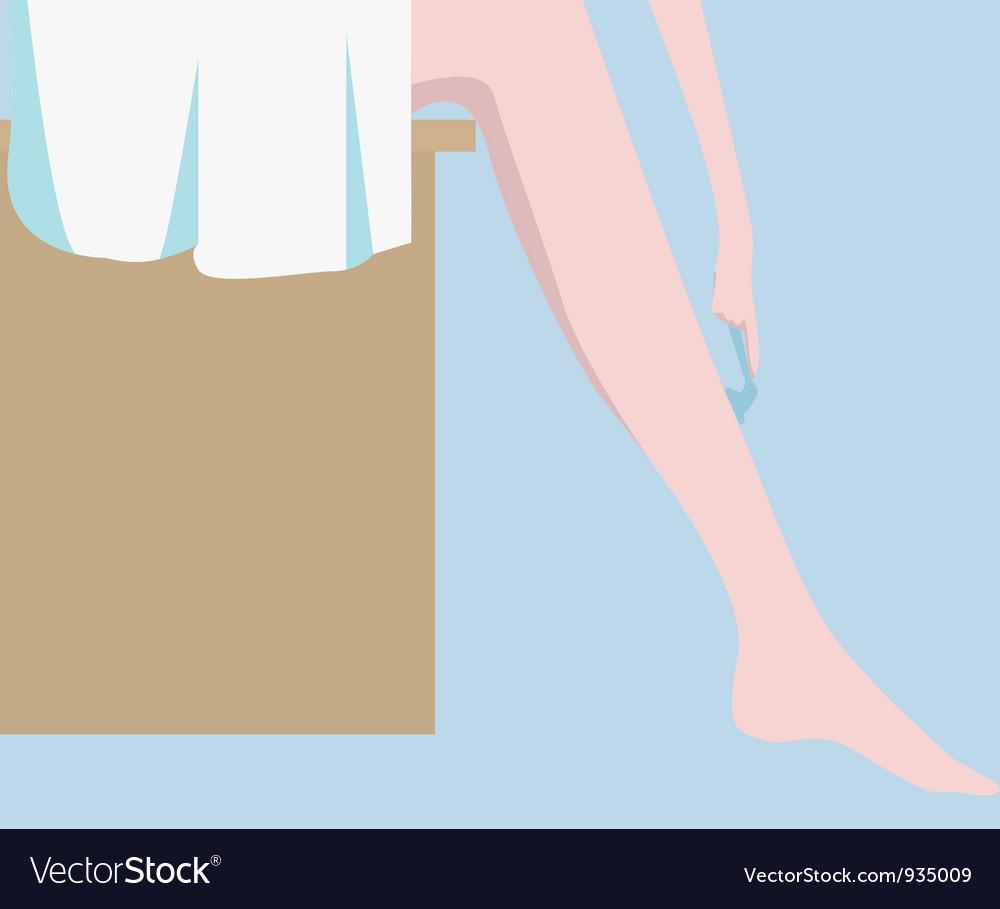 Shaving legs vector | Price: 1 Credit (USD $1)