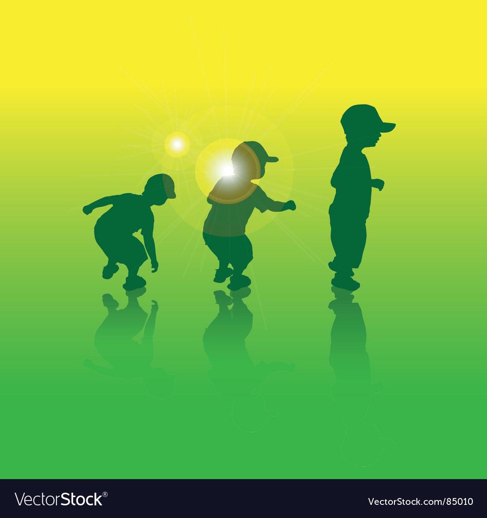 Boys jump vector | Price: 1 Credit (USD $1)