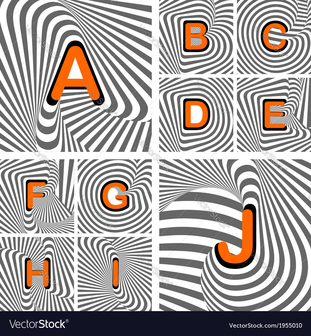 Design alphabet letters from a to j vector | Price: 1 Credit (USD $1)