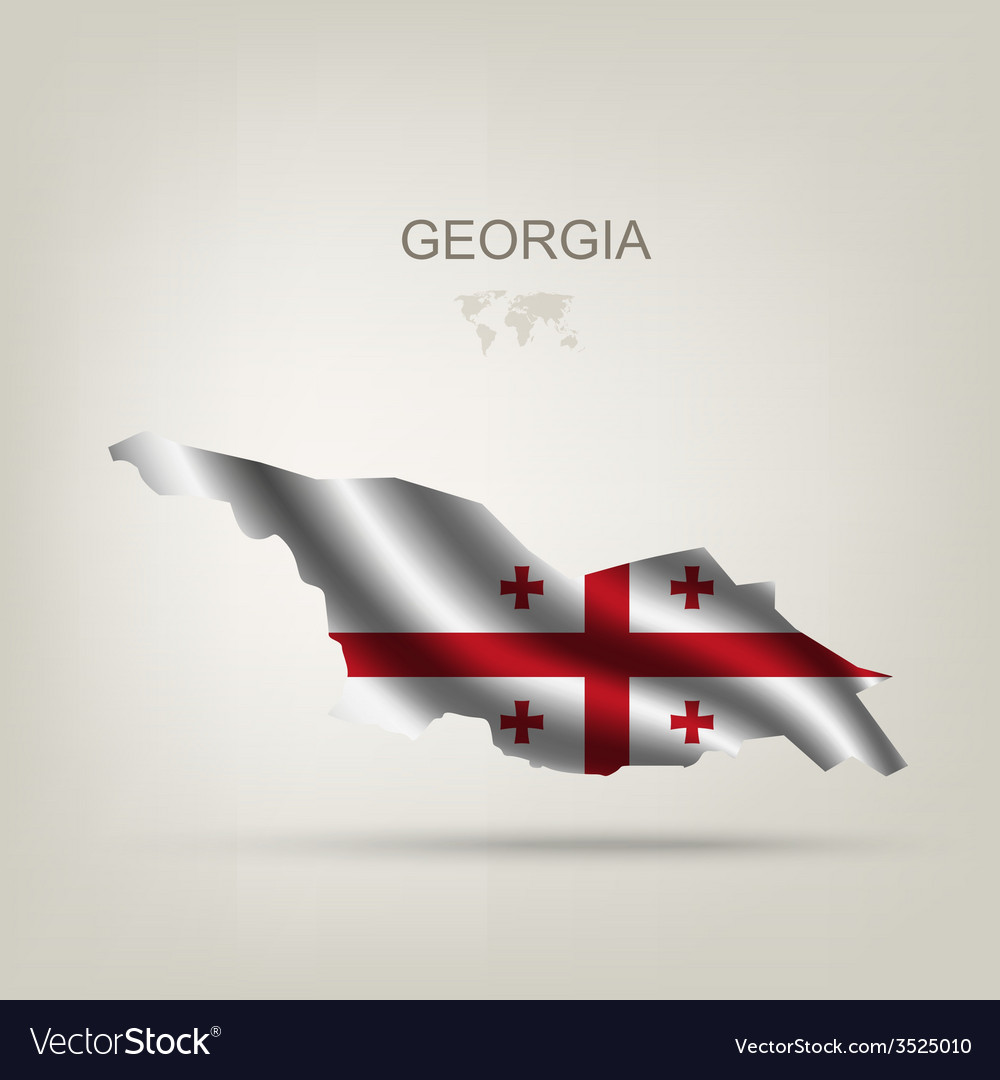 Flag of georgia as a country vector | Price: 1 Credit (USD $1)