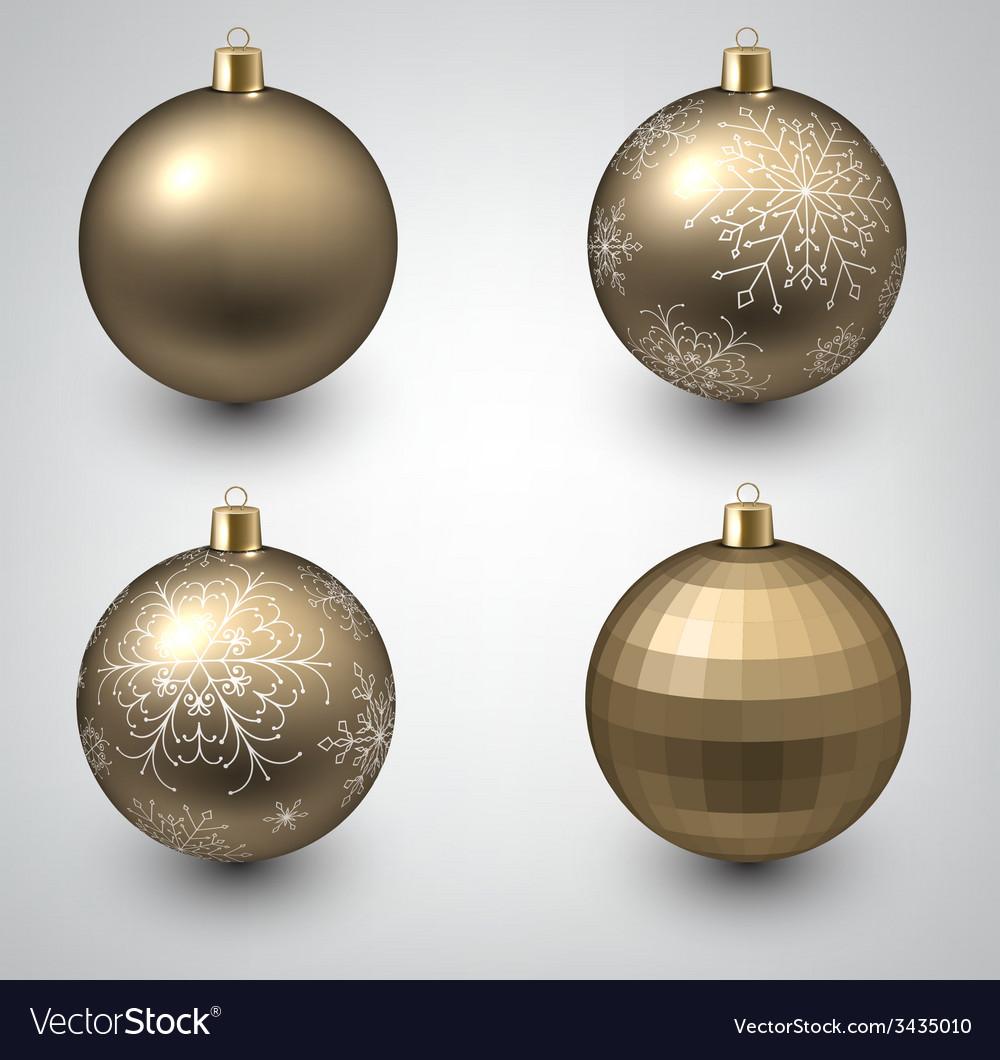 Golden christmas balls vector | Price: 1 Credit (USD $1)