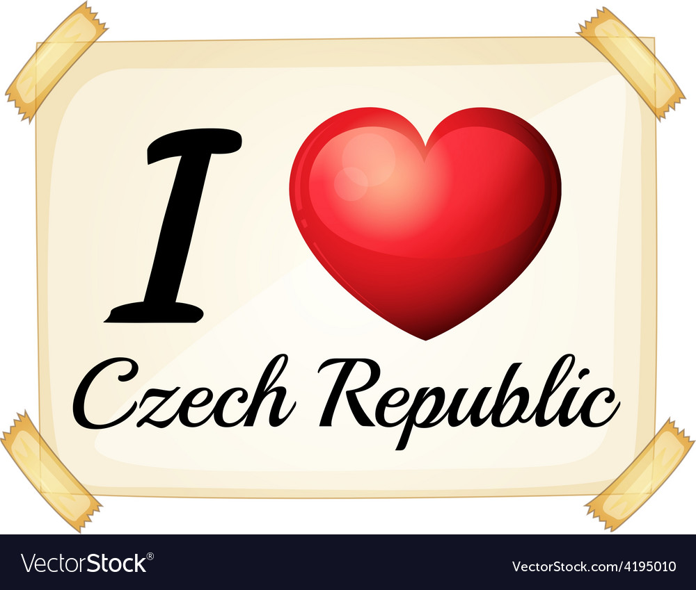 I love czech republic vector | Price: 1 Credit (USD $1)